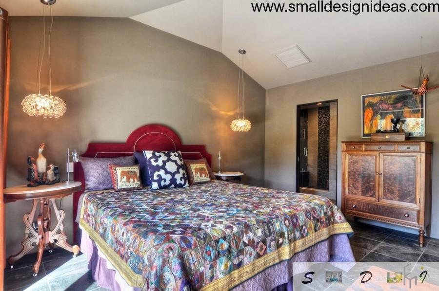 Eclectic attic bedroom design
