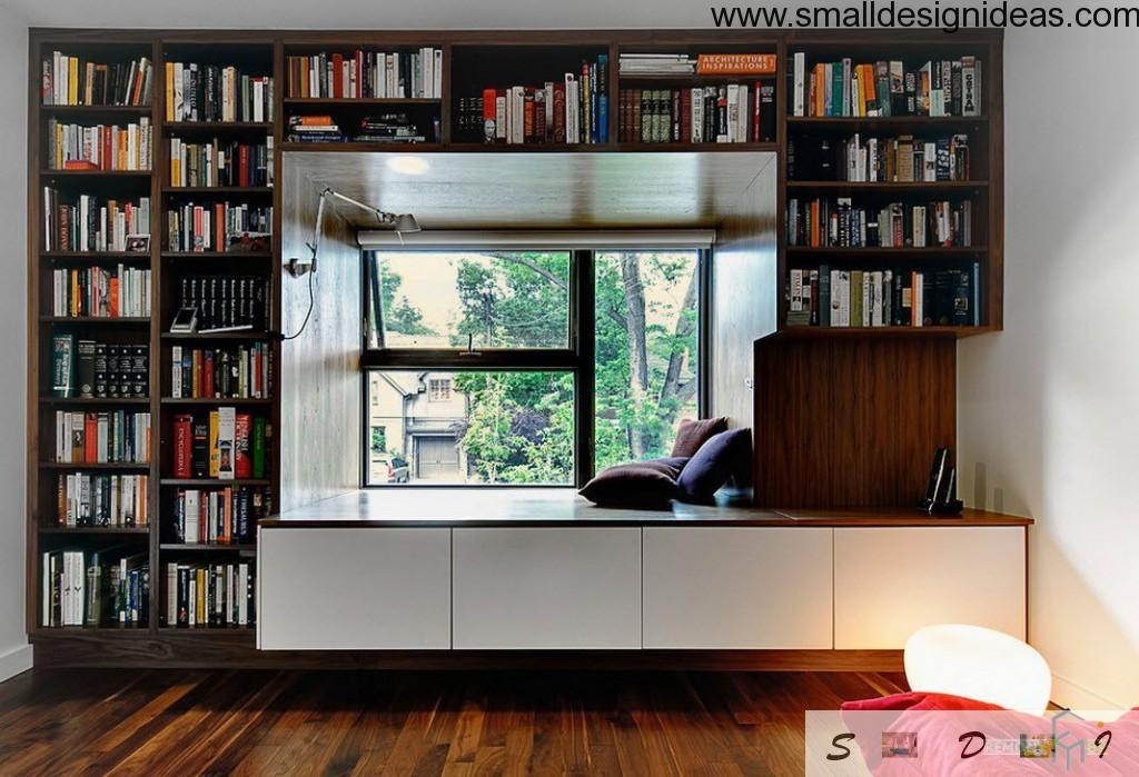 Living room erading corner in minimalistic style