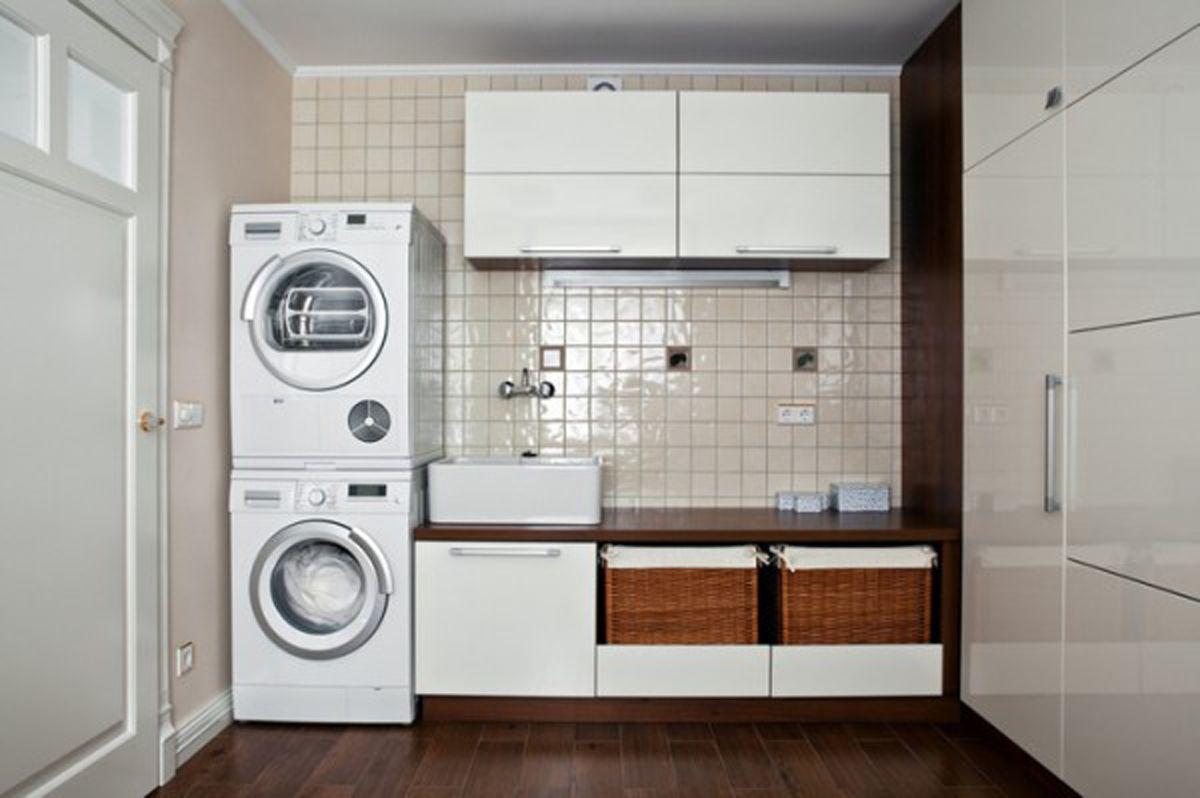 Laundry room interior main decoration features - Laundry room design ideas ...