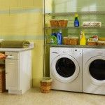 Laundry Room Interior. Main Decoration Features in the private house