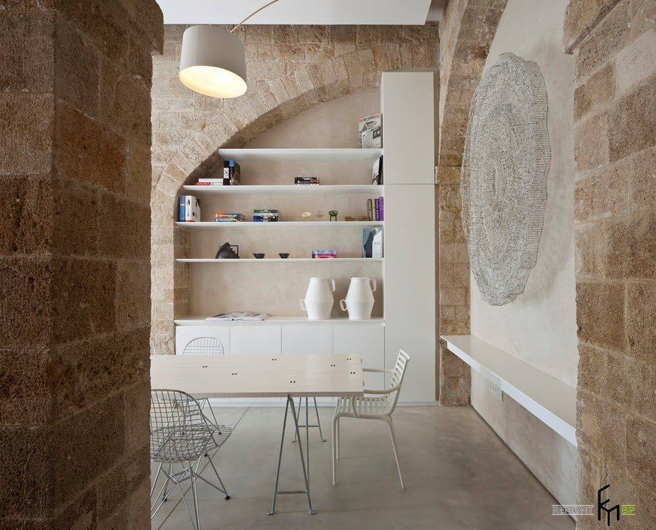 Stone work in the creative countryside living room