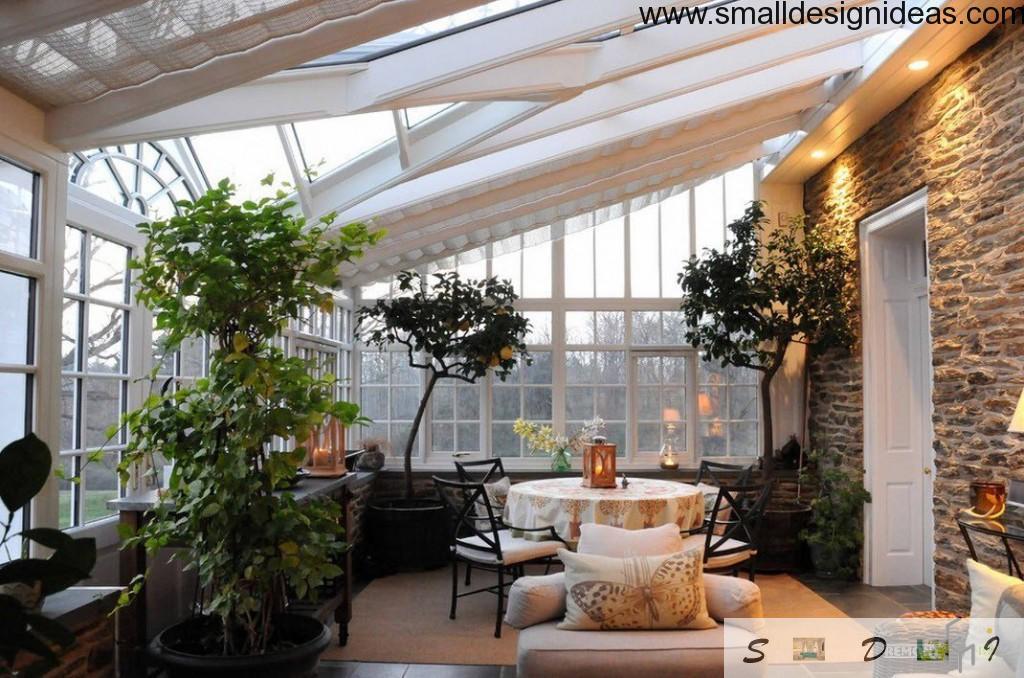 veranda-like living room in countryside house