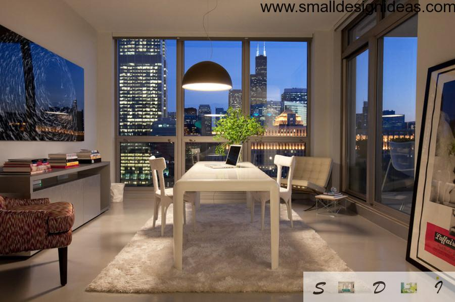 redesigned from bedroom home office with discreet layout and wooden furniture
