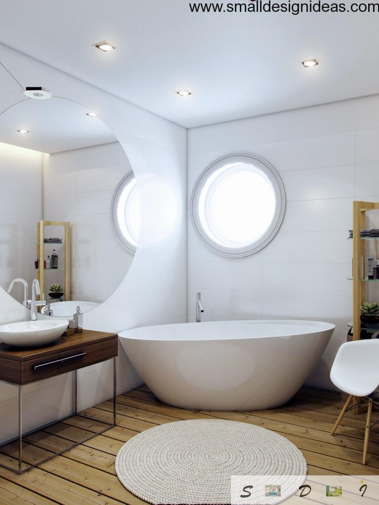 Unique design with rounded details in the bathroom