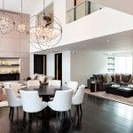 Modern English Interior Design Style in the spacious apartment