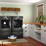 Laundry Room Interior. Main Decoration Features and elegant ideas to arrange laundry in the kitchen