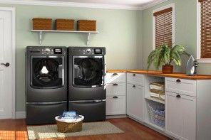 Laundry Room Interior. Main Decoration Features