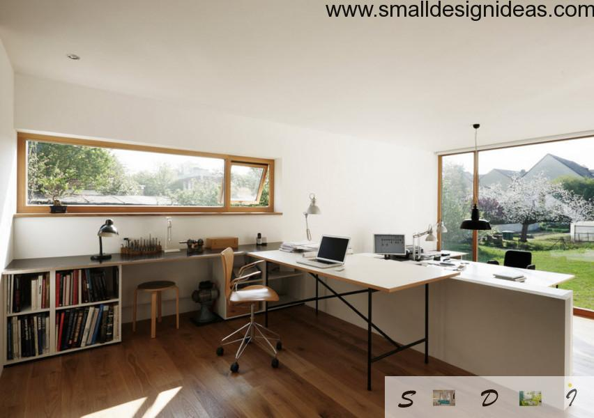 nothing superfluous шт the modern white home office interior design