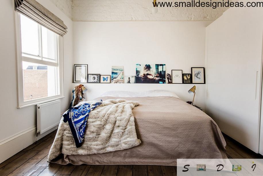 Brickwork as an element in modern bedroom interior design