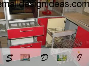 Nice modern red kitchen furniture for dynamic and active home style