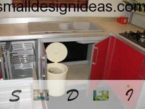 multifunctional design of modern kitchen furniture helps to economize space