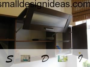 Comfortable and spectacular suspended cupboard. Small Tips For Tiny Kitchen