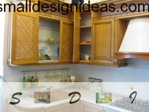 Small Tips For Tiny Kitchen. Wooden rustic kitchen furniture for small premises