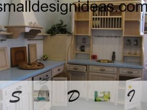 French Provence in kitchen furniture design. Small Tips For Tiny Kitchen