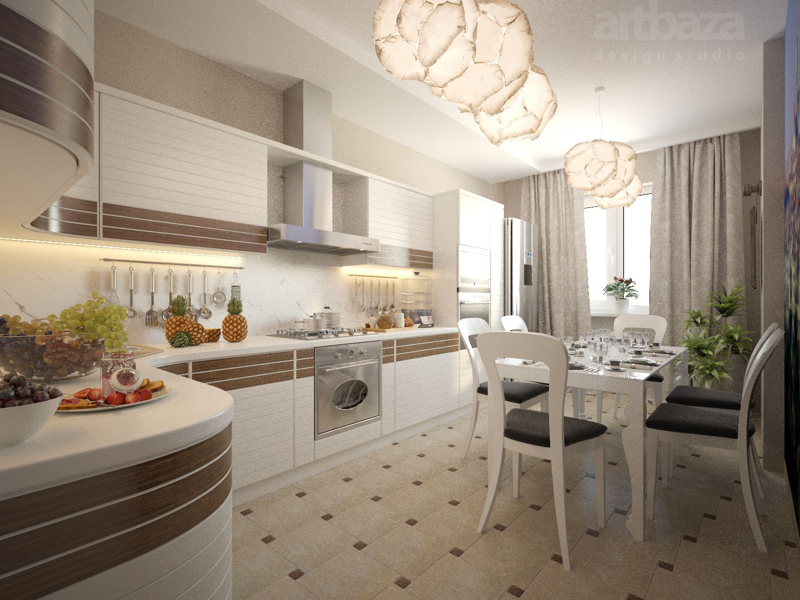 design of the kitchen dining area