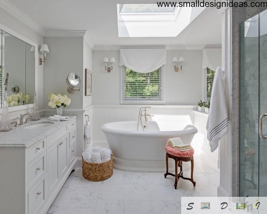 Marine interior design style for country house for 2nd bathroom ideas