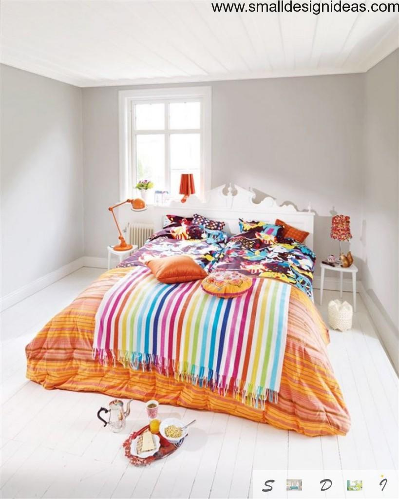 Spring changeable bright linen bedroom design