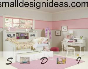 Space utilizing bed with drawers for kids