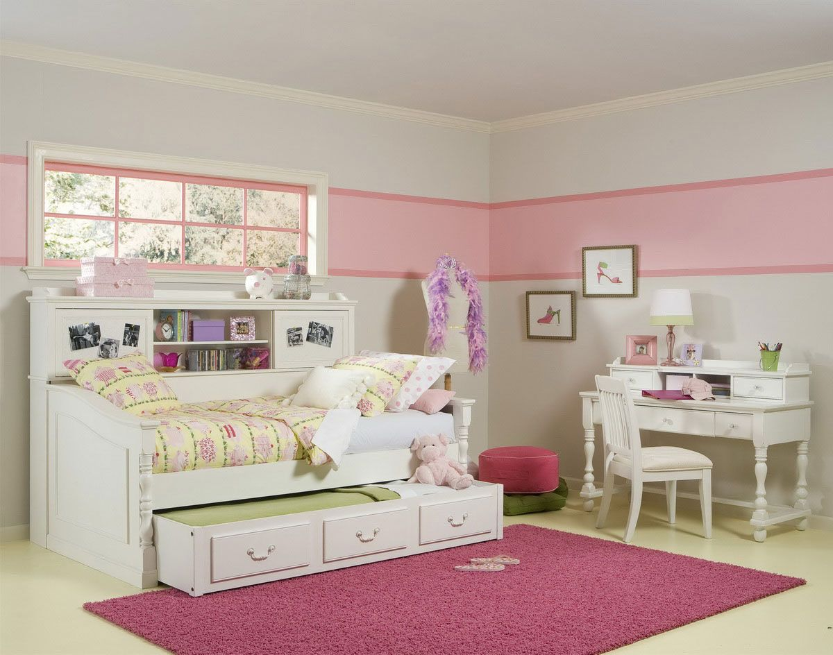 charming teen girl bedroom sets | Bed with Drawers. Modern Design