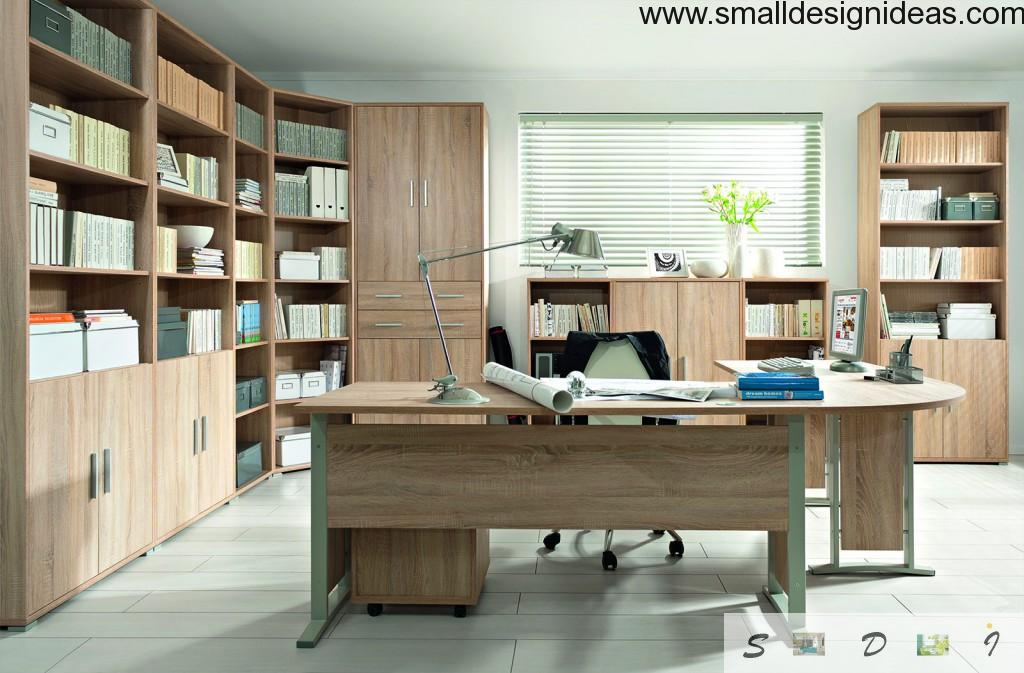 Adjustable sectional lamp in the modern study interior