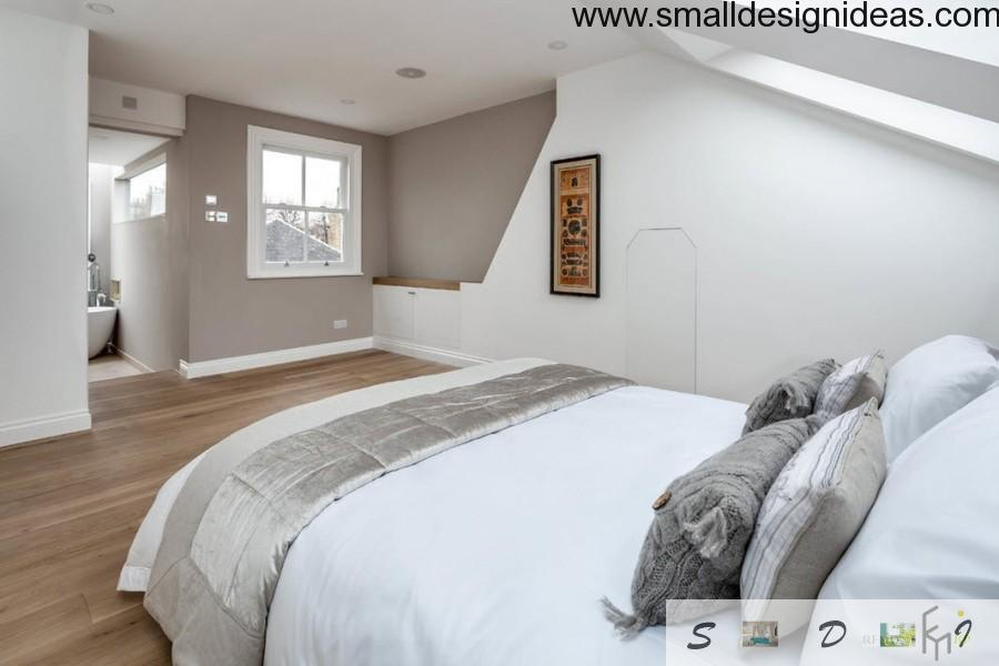 Contemporary English Style House Interior second floor  bedroom