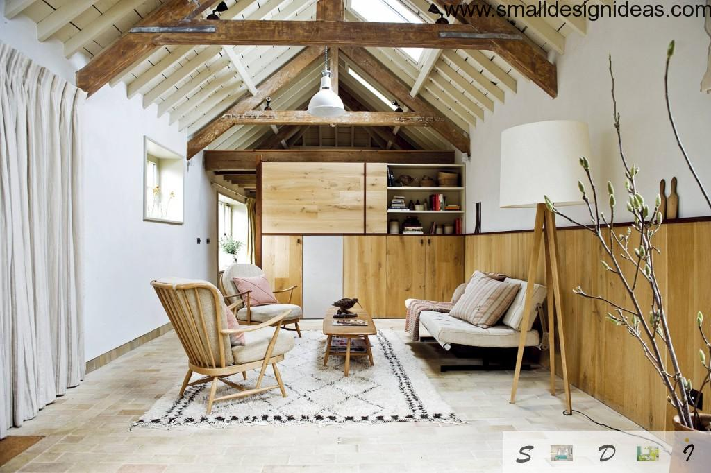 Wooden trimm one of the essential features of Scandinavian Interior Design Style in the house