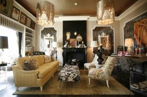 Classic retro style in the interior of living room