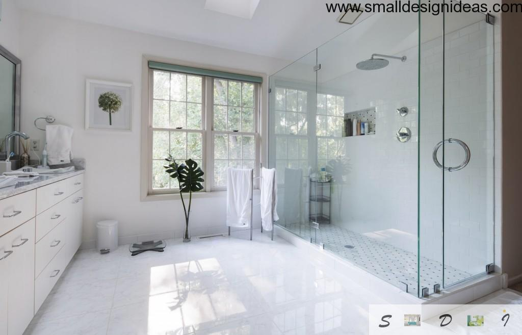 White marble bathroom decoration ideas