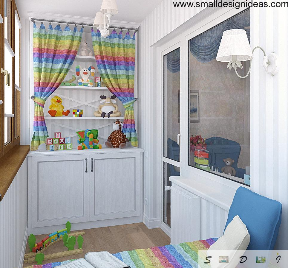Children`s room within a balcony is a ultramodern idea