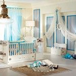 Marine Style Interior Design of the kids room for infant