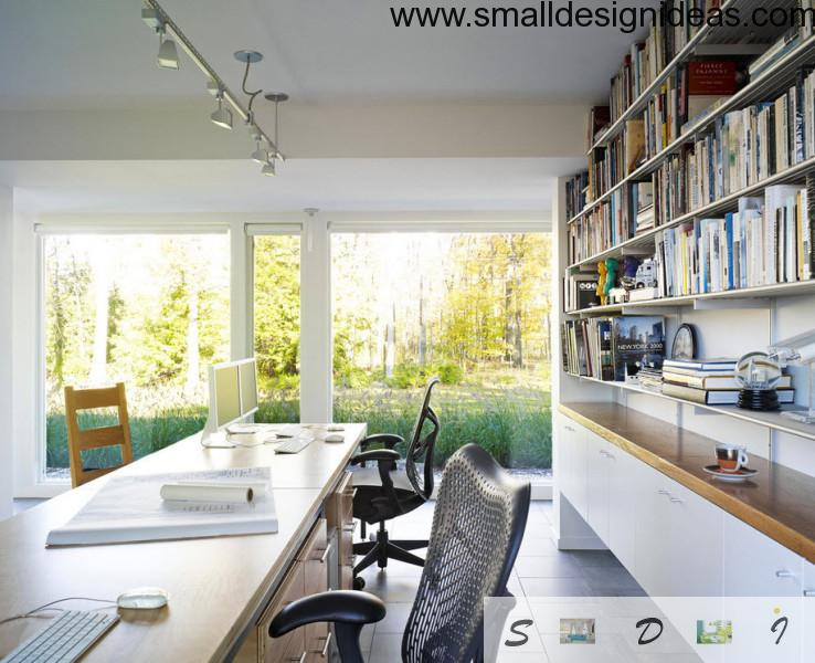 Countryside House Home Office Modern Design In Art Nouveau Trend