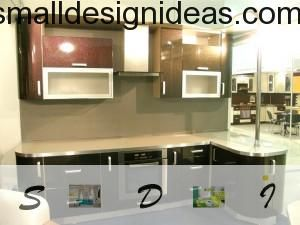 L-shaped Kitchen Design with all modern features and convenient countertop