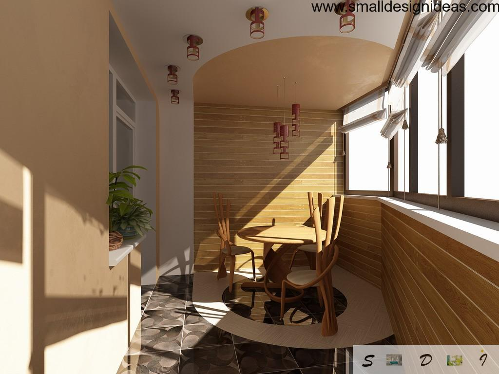 Dining room within the balcony is a modern design solution