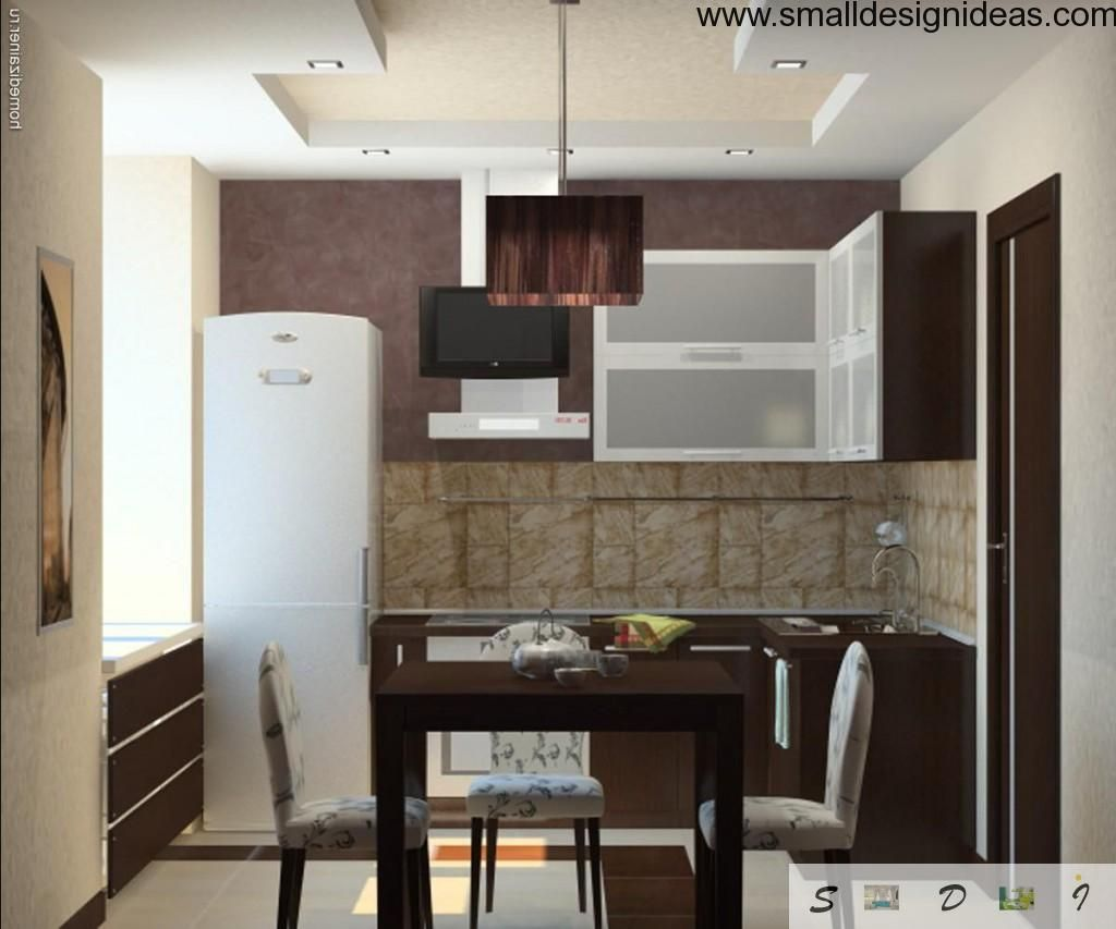 Small Tips For Tiny Kitchen. Functional and simple dark and white color combination