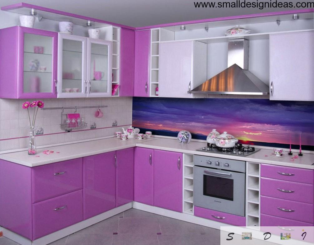 Perky Pink Kitchen Design With Marin Thematic