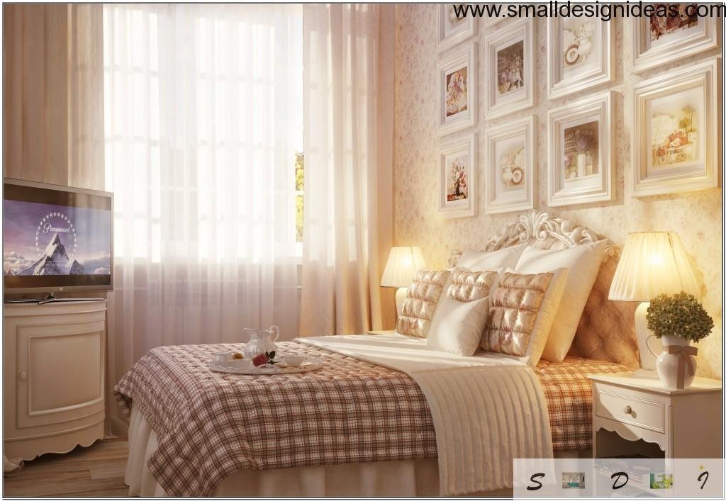 White creamy riyal bedroom with country style elements