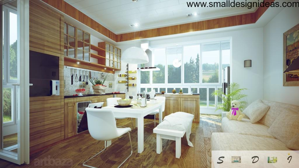 Another foreshortening ща the light spacious dining room in Scandinavian interior style