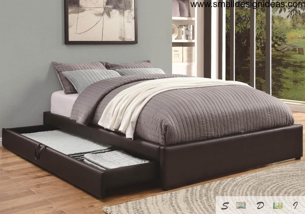 Bed with Drawers. Modern Design in a Scandinavian style