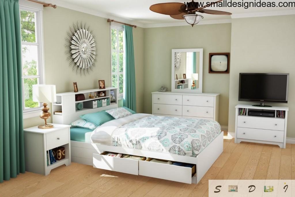Bed with Drawers. Modern Design needs fresh and bold ideas