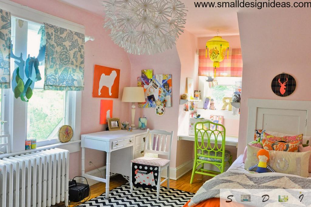 Bright bedroom design both for kids and adults