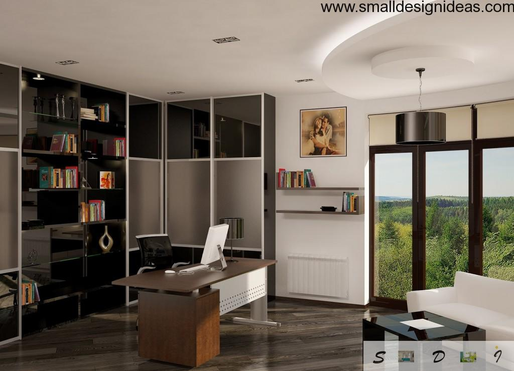 Wood and expensive materials would make your home office a real piece