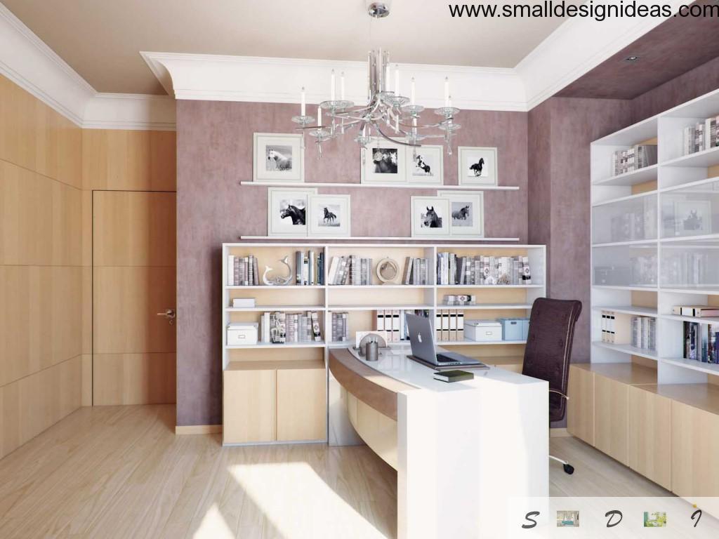 Pink feminine design of the cabinet