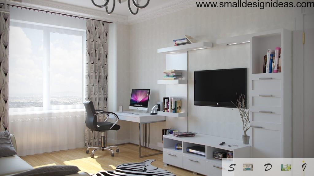 Black steel armchair in the home office design