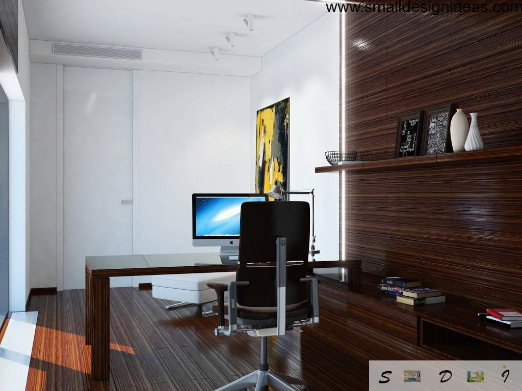Home office (Cabinet) Furniture in dark tones and minimalism