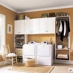 Laundry Room Interior. Main Decoration Features in the cloakroom