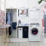 Laundry Room Interior. Main Decoration Features in interior pocket