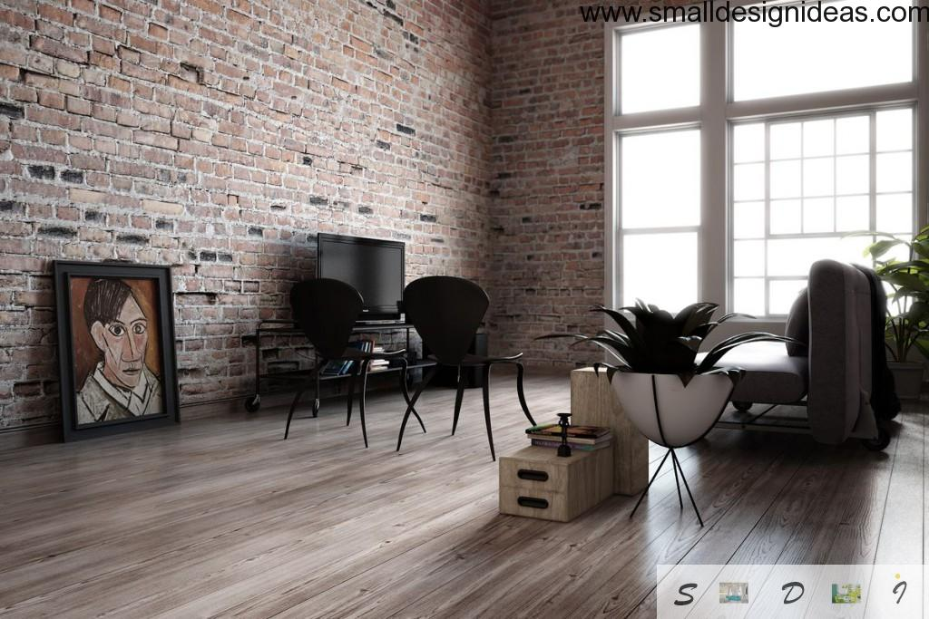 Minimalistic approach is the main feature of loft design