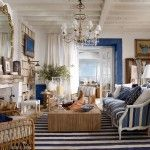 Marine style for the classic styled living room