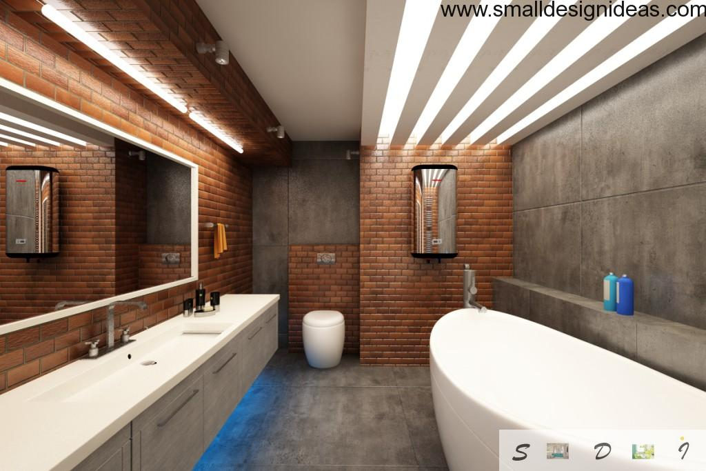 Brutal bathroom loft design without any bullshit. Comfortable and functional