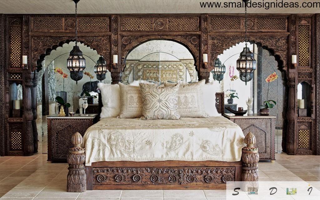 Indian motiffs in country styled bedroom